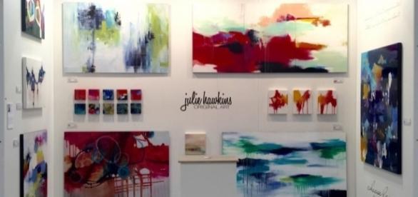 Abstract Art Meets Interior Design Interview With Creator Julie Hawkins