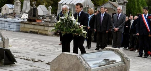 L'instant président du candidat Macron à Oradour-sur-Glane ... - lepopulaire.fr