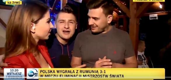 Kibic trolluje stację TVN24 (źródło: niezłomni.pl)