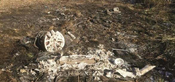 O carro de Ana Lopes foi encontrado carbonizado