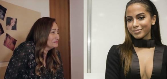 A jornalista Sonia Abrão(à esquerda) foi detonada por Anitta