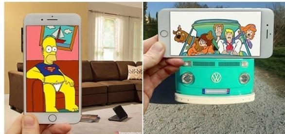 Desenhos animados se interagem com o mundo real (Foto: Reprodução)