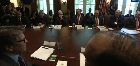 Trump's 'kiss the ring' session with cabinet officials