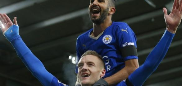 Vardy y Mahrez formaron una dupla letal para llevar al Leicester City al título de la Premier en 2016. Foto: static.standard.co.uk