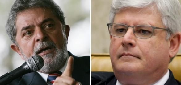Polícia Federal envia ao procurador-geral da República inquérito, Rodrigo Janot, referente à palestras do ex-presidente Lula (à esq.)