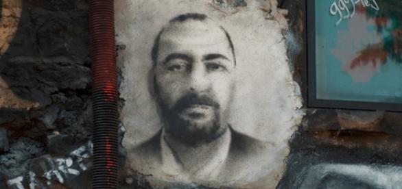 Abu Bakr al-Baghdadi, painted portrait DDC_0583 / Abode of Chaos Flickr