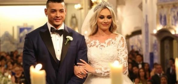 Juju Salimeni e Felipe Franco se casaram em 2015. Reprodução: Internet