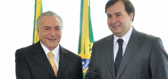 Presidente da Câmara e Michel Temer