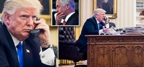 Trump slammed the phone on Turnbull when he learned of an Obama-era deal. Photo via Breaking News, YouTube.
