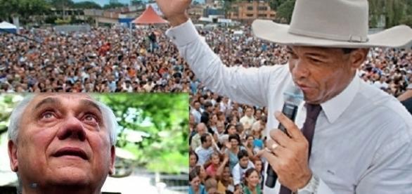 Valdemiro abençoa o jornalista Marcelo Rezende