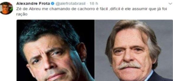 Alexandre Frota ataca José de Abreu - Google