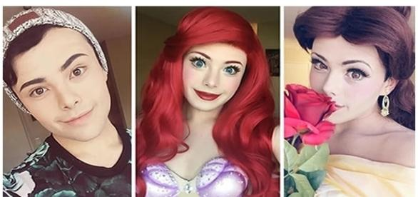 Rapaz usa cosplay de princesas da Disney