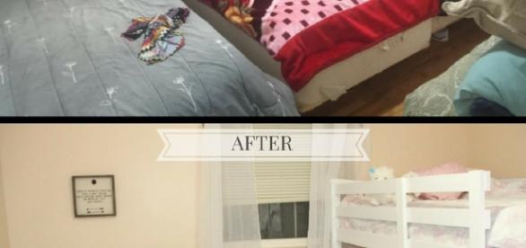 Before and after children's room before they saw finished results.