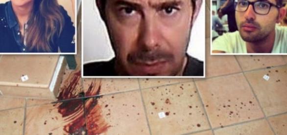 Duplice omicidio per la gelosia dell'ex Stefano Perale (al centro). Le vittime Anastasia Shakurova e Biagio Buonomo. Foto: teleclubitalia.it.