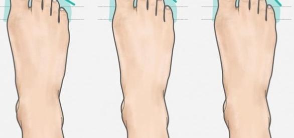 Os três tipos de pés, grego, romano e egípcio. ( Imagem: Reprodução)