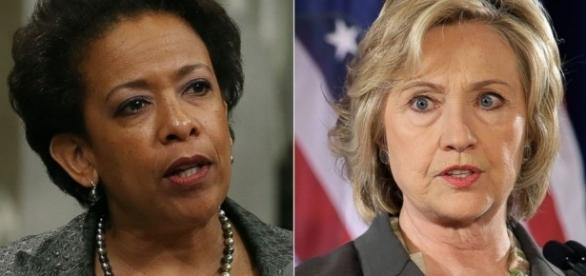 Former Attorney General Loretta Lynch, former Secretary of State Hillary Clinton. / Photo by yournewswire.com via Blasting News library