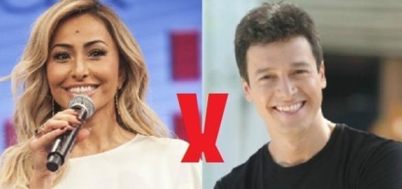 Sabrina Sato x Rodrigo Faro: na brincadeira do 'sincericídio' os dois apresentadores da Record se 'agridem'.