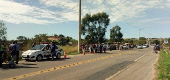 Corpo da vítima foi encontrado na manhã desta terça-feira (30), em rodovia na zona rural (foto: Reprodução / Google)
