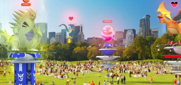 Raid battles and new Gym features are coming in anniversary summer update. / from 'Pokémon GO Live' - pokemongolive.com