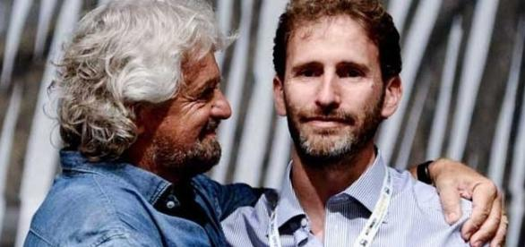 Beppe Grillo e Davide Casaleggio