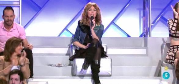 """Emma García durante una emisión del programa de citas """"MYHYV"""""""