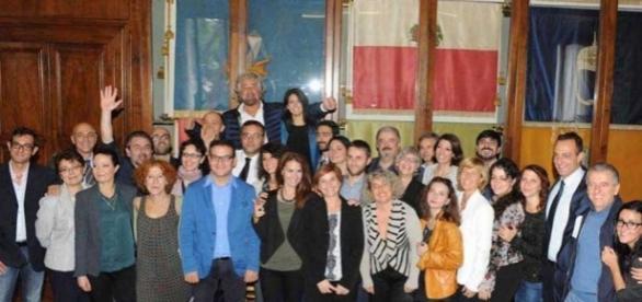 Grillo fa visita in Campidoglio