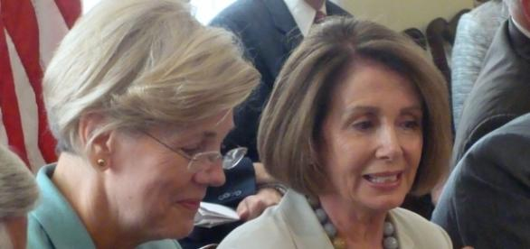 House Minority Leader Nancy Pelosi and Senator Elizabeth Warren. Photo from Nancy Pelosi via Flickr; available under Creative Commons License 2.0