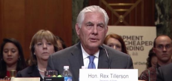 Secretary of State Rex Tillerson at budget hearing in June. / Image screenshot by SenatorDurbin via YouTube:https://youtu.be/JS3FnW0jHkQ