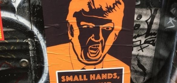 Anti-Trump poster [Image by Matt Brown via:https://flic.kr/p/TKwuPy / CC BY 2.0]