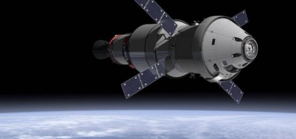 Orion spacecraft in orbit (NASA)