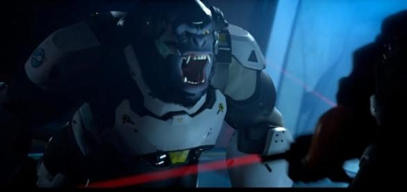 """Winston offers 500 health points, which is enough to make him a force to be reckoned in """"Overwatch"""" (via YouTube/Xbox)"""