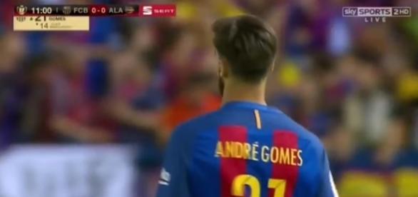 André Gomes, centrocampista del Barcellona