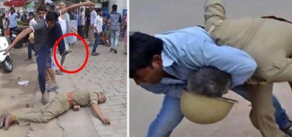 Menina é estuprada e policiais levam surra da população