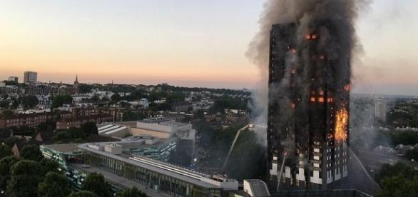 Photo Grenfell Tower fire via Wikimedia by Natalie Oxford / CC BY-4.0