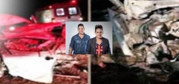 Dupla Serteneja João Ricardo e Juliano foi vítima de acidente de trânsito grave