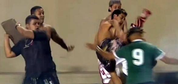 Briga aconteceu no final do jogo