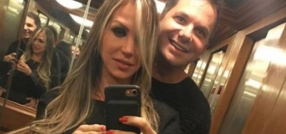 Samantha MIranda com o atual esposo, Marcelo Diotti da Mata