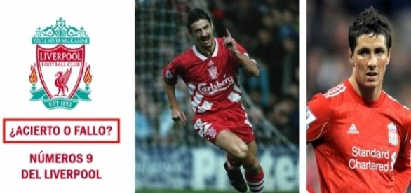 ¿Acierto o fallo? Números 9 del Liverpool en la era Premier League.
