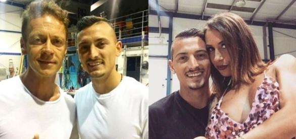 """Rocco Siffredi con Davide """"DaDà"""" Iovinella nella prima foto e nella seconda il 24enne è con Malena la Pugliese"""