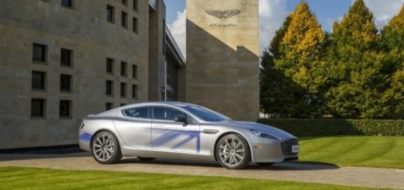 Aston Martin unveils electric concept RapidE during state visit - astonmartin.com