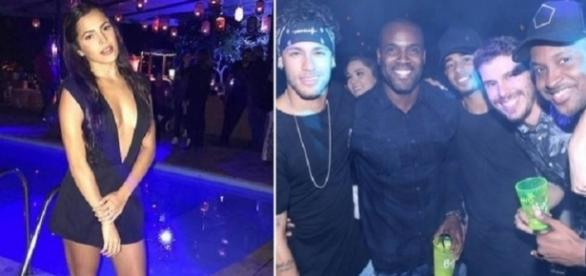 Emilly acabou passando despercebida pelo fotógrafo que cobria o evento de Neymar