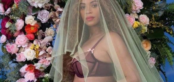 Beyoncé durante su embarazo de mellizos