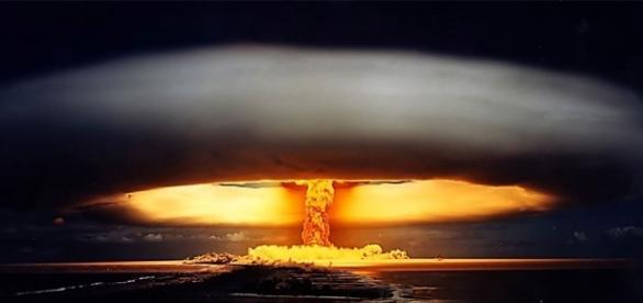 Esta es la imagen de un ensayo nuclear que, 1971 se realizó en la Polinesia Francesa. Fotografía cortesía de la ONU.