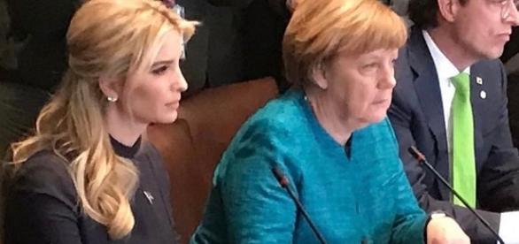 Ivanka Trump with Angela Merkel of Germany / Photo via Ivanka Trump , Instagram