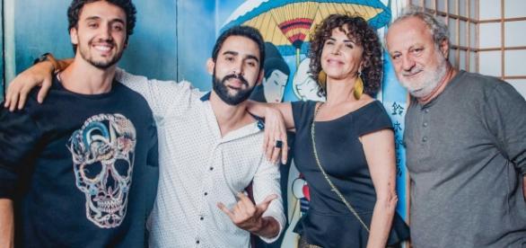 Pedro Cassiano, Claudia Alencar e Julio Padilha estiveram na festa (Foto: Divulgação/Nakamura)