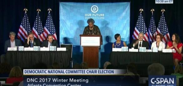 Tom Perez Elected New DNC Chair Keith Ellison | Video | C-SPAN.org - c-span.org