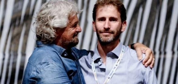 I capi del M5S, Beppe Grillo e Davide Casaleggio