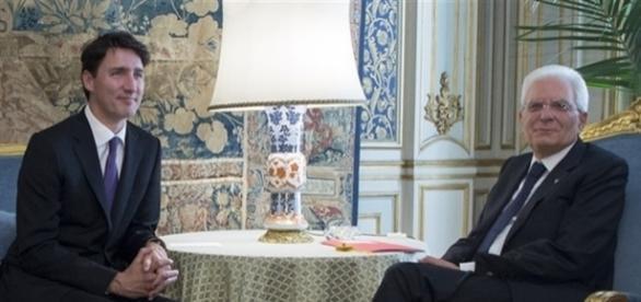 L'emergenza migranti divide l'Italia. Il presidente italiano Mattarella trova un alleato nel primo ministro canadese Trudeau