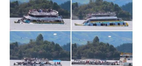 Navio naufragou em represa no nordeste da Colombia