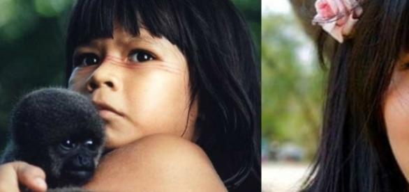 A pequena indiazinha se tornou uma grande mulher